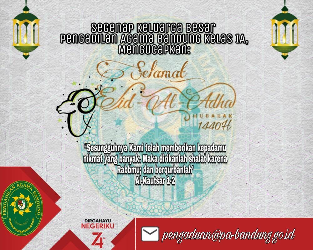 Keluarga Besar Pengadilan Agama Bandung Mengucapkan selamat Idul Adha